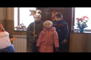 Since Volyn region is very close to Poland, some carollers carol in the Polish language.