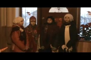 This is an example of girls carollers in the village of Pidhaitsi, Volyn 2010.
