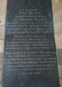 Jane Austen's gravestone