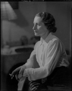 Vera Brittain by Howard Coster, 10 x 8 inch film negative, 1936